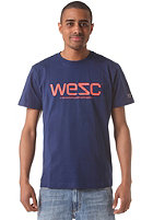 WESC Logo S/S T-Shirt blue depths
