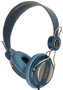 WESC Oboe Golden Headphones jazz blue