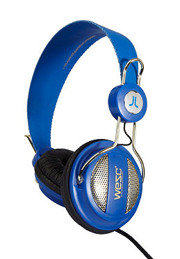 WESC Oboe Golden Headphones royal blue