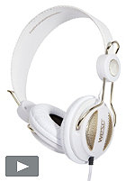 WESC Oboe Golden NS Street Headphones 2012 white
