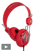 WESC Oboe NS Headphone hot orange