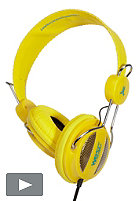 WESC Oboe NS Headphones 2012 vibrant yellow