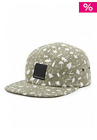 WESC Palm Tree 5 Panel Baseball Cap oil green