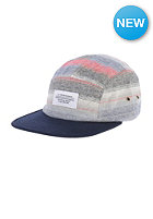 WESC Striped 5 Panel Cap peacoat