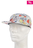 WESC Wild 5 Panel Snapback Cap star white