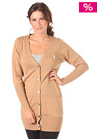 WESC Womens Angelina Knit Cardigan light brown melange