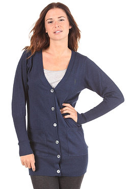 WESC Womens Angelina Knit Cardigan peacoat melange