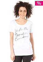 WESC Womens Aqua Script S/S T-Shirt white