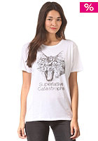 Womens Cat-astrophe S/S T-Shirt white
