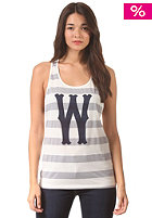 Womens Dubby Stripe Tank Top star white