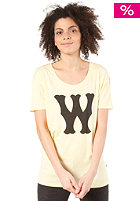 WESC Womens Franchise Dub S/S T-Shirt pale banana