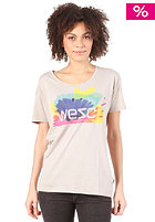 WESC Womens Happy Marker T-Shirt pumice rock