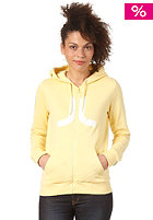 WESC Womens Icon Hooded Zip Sweat bleached yellow