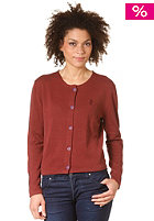 WESC Womens Janela Knit Zip Sweat andorra red