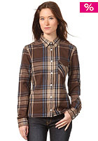 WESC Womens Klara L/S Shirt dark chocolate