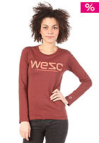 WESC Womens L/S T-Shirt andorra red