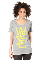 WESC Womens Last Minute S/S T-Shirt grey melange