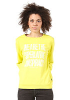 WESC Womens Message Crew Sweat fresh lime