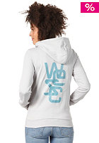 WESC Womens Overlay Hooded Zip Sweat pale grey