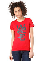 WESC Womens Overlay S/S T-Shirt blood red