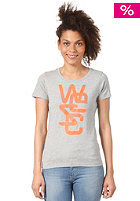 WESC Womens Overlay S/S T-Shirt grey melange