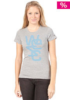 WESC Womens Overlay Soft S/S T-Shirt grey melange