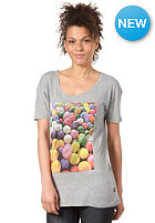 WESC Womens Superlative Bubbles S/S T-Shirt grey melange