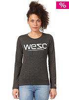 WESC Womens WeSC L/S Shirt charcoal melange