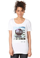 WESC Womens WeSC on Fuller S/S T-Shirt white