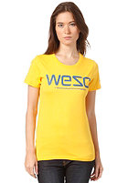 WESC Womens WeSC S/S T-Shirt gold fusion