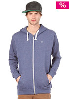 Likely Hooded Zip Sweat blue melange