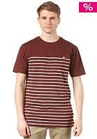 Talk Less S/S T-Shirt wine red white