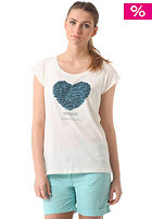 WLD Womens Dolphin Heart S/S T-Shirt offwhite
