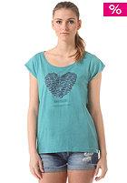 WLD Womens Dolphin Heart S/S T-Shirt tile blue melange