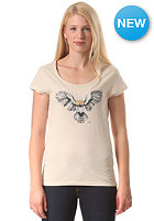 WLD Womens Flashing Owl S/S T-Shirt ecru