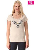 WLD Womens Flashing Owl S/S T-Shirt ecru