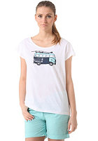 WLD Womens Flower express S/S T-Shirt white