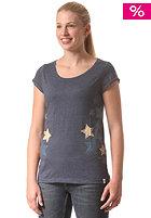 WLD Womens Galactic Girl S/S T-Shirt denim blue melange