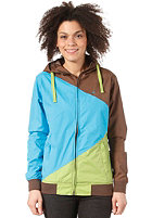 Womens Japs II Jacket blue green brown