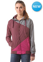 Womens Japs III Jacket grey burgundy pink
