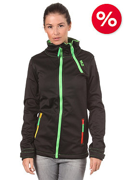 WLD Womens Pagosa II Fleece Jacket black rasta