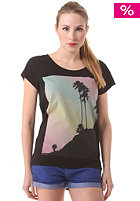 WLD Womens Pink Palms S/S T-Shirt black