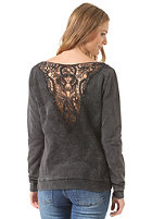 WLD Womens Yes Please black washed