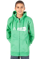 ZIMTSTERN Dirty Logo Hooded Zip Sweat green
