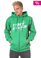 ZIMTSTERN Drop Hooded Zip Sweat green/white
