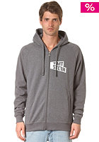 ZIMTSTERN Flagz Hooded Zip Sweat dark grey heather