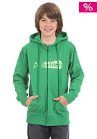 ZIMTSTERN KIDS/ Dirty Logo Hooded Zip Sweat green