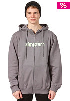 ZIMTSTERN Spray Logo Hooded Zip Sweat ash