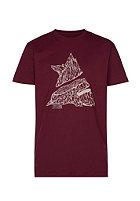 ZIMTSTERN Timber S/S T-Shirt ruby wine