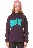 ZIMTSTERN Womens Glimmer Fleece Jacket aubergine